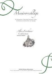 Menüvorschläge 2013 - Altes Forsthaus Lichtenstein