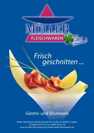Katalog zum Download - Müller Fleischwaren
