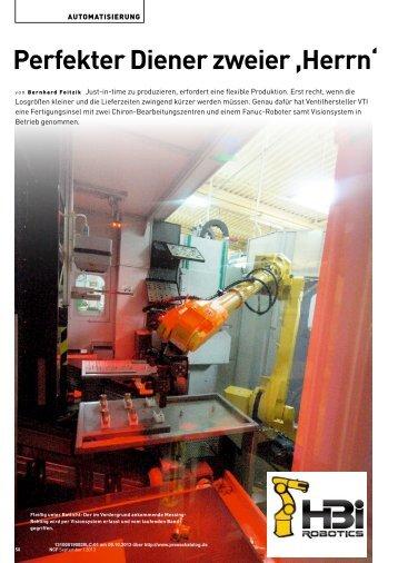 Perfekter Diener zweier ,Herrn' - HBi Robotics GmbH