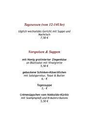 (von 12-14Uhr) Vorspeisen & Suppen - Landgasthof Kopp