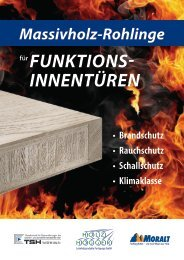 Massivholz-Rohlinge für Funktions- innentüRen - Holz Hogger
