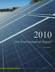 Site Environmental Report - Brookhaven National Laboratory