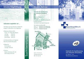 Flyer Beratung - Blaues Kreuz Deutschland