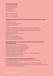 Studienführer (PDF) - AHB - Berner Fachhochschule