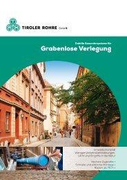 Broschüre Grabenlose Verlegung - Tiroler Röhren und Metallwerke