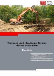Verlegung von Leitungen auf Gelände der Deutschen Bahn
