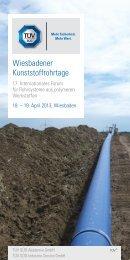 Wiesbadener Kunststoffrohrtage – Programm - Friatec AG