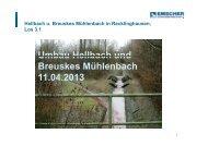 Hellbach u Breuskes Mühlenbach in Recklinghausen - EGLV