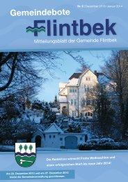 Ausgabe 6/13 Teil 1 - Gemeinde Flintbek