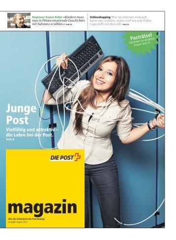 magazin» August 2013Link wird in einem neuen Fenster ... - Die Post