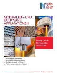 Prospekt Industrieanwendungen NDC CM710e - PDF runterladen