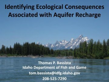 """Identifying Ecological Consequences Associated with Aquifer ..."