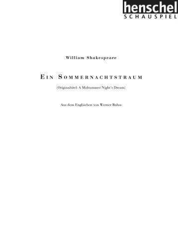 Leseprobe (pdf) - henschel SCHAUSPIEL Theaterverlag Berlin GmbH