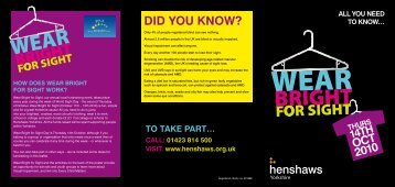 Leaflet - Henshaws Society for Blind People