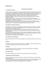 HENTZEN GmbH General Business Conditions 1. Acceptance of ...
