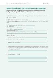 Musterfragebogen für Interviews am Arbeitsplatz - hep verlag