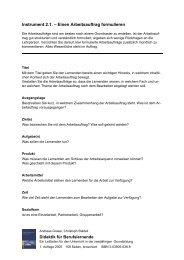 Instrument 2.1. – Einen Arbeitsauftrag formulieren