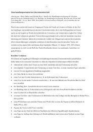 Aspekte der Handlungsorientierung im Lesenunterricht auf der ...