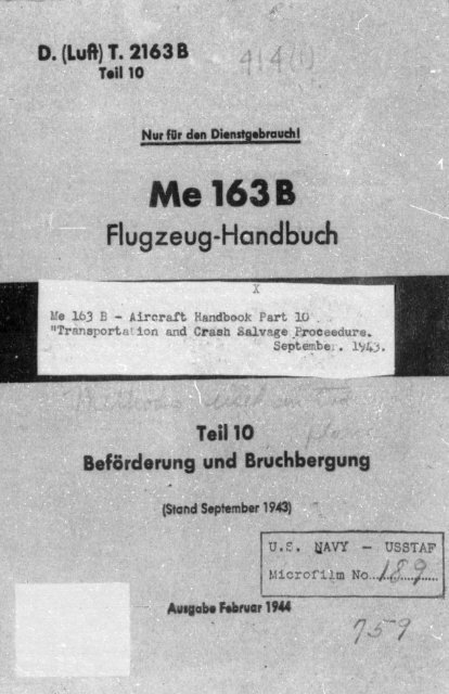 Me 163 B - AVIA