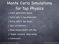 Monte Carlo Simulations for Top Physics