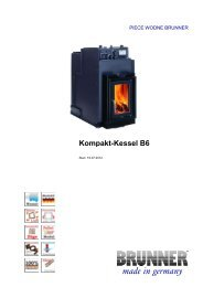 Kompakt-Kessel B6 made in germany - Brunner