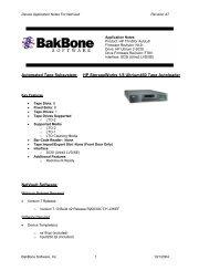 HP StorageWorks 1/8 Ultrium460 Tape Autoloader App Notes