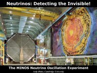 Neutrinos: Detecting the Invisible! - High Energy Physics Group