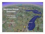 Neutrino Group Overview