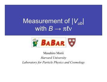 BABAR Vub.pdf - Harvard University Laboratory for Particle Physics ...