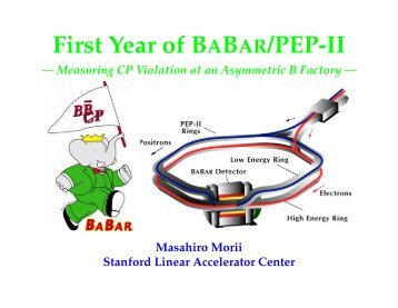 First Year of BABAR/PEP-II - Harvard University Laboratory for ...