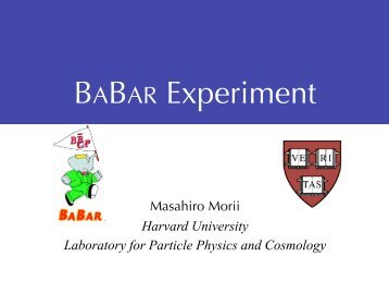 B - Harvard University Laboratory for Particle Physics and Cosmology