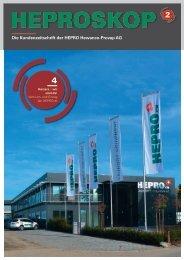 Die Kundenzeitschrift der HEPRO Hewanco-Provap AG