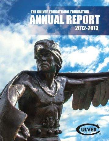 Annual Report 2013.indd - Culver Academies