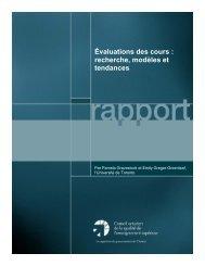 Évaluations des cours : recherche, modèles et tendances