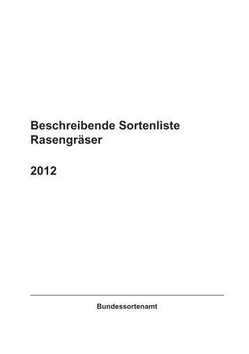 BSL Rasengräser 2012_Internet.indd - Bundessortenamt