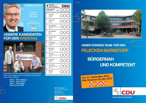 Stimmen für die CDU! - CDU Barnstorf