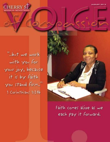 Voice of Compassion August 2013 PDF - Cherry Street Mission