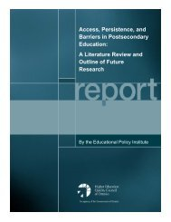 Access, Persistence, and Barriers in Postsecondary Education: A ...