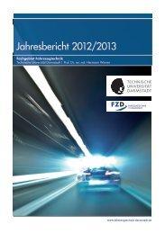 Jahresbericht 2012/2013 - bei FZD - Fachgebiet Fahrzeugtechnik