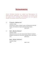 finden Sie unsere aktuelle Weinkarte - Businesshotel Kramsacher Hof