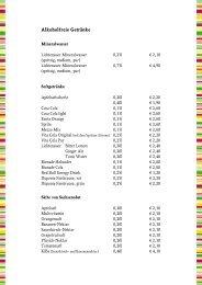 Getränkekarte zum Download - Gasthaus Barthels Hof