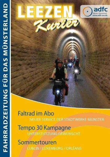 die aktuelle 105. Ausgabe als PDF Download - beim ADFC