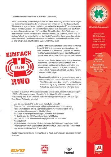 Antrag Download - SC Rot-Weiß Oberhausen eV