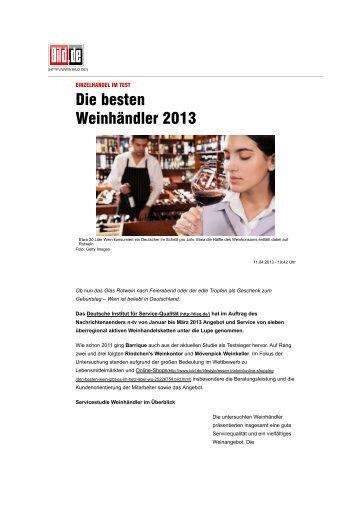 Die besten Weinhändler 2013 - Essen & Trinken - Bild.de