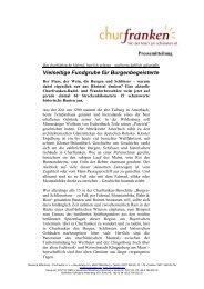 Vielseitige Fundgrube für Burgenbegeisterte - Churfranken