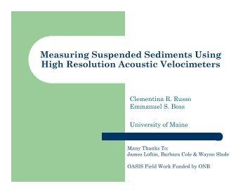 Presentation - Maine In-situ Sound & Color Lab