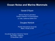 Ocean Noise and Marine Mammals - Maine In-situ Sound & Color Lab