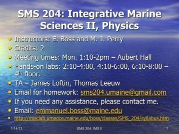 Physics, units & continuum mechanics
