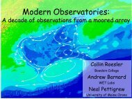 Modern Observatories: A Decade of Observations from a Moored Array