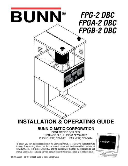 Bunn dual sh dbc dual068000 users manual.